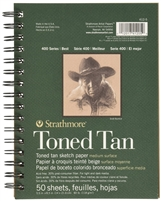 SKETCH PAD TONED TAN 5.5X 8.5 SPIRAL 50SH 412-5