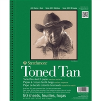 SKETCH PAD TONED TAN 9X12 50SH 80LB 412-9