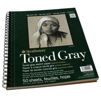 SKETCH PAD TONED GRAY 9X12 SPIRAL 50SH 412-109