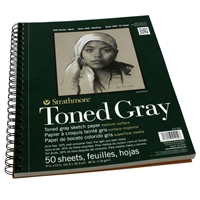 SKETCH PAD TONED GRAY 11X14 SPIRAL 24SH 412-111