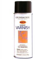SPRAY DAMAR MATTE VARNISH 11OZ GRUMBACHER 533
