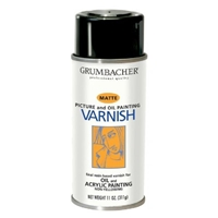 SPRAY OIL- ACRILYC MATTE VARNISH 11OZ GRUMBACHER 542