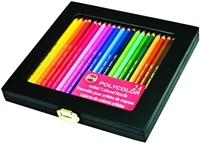 COLOR PENCIL SET POLYCOLOR SET 24 WOOD BOX FA3818.24WB