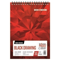 DRAWING PAD KOH-I-NOOR BLACK 9X12 30SH KO170221012