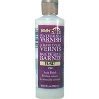 VARNISH WATERBASED SATIN 8OZ FOLKART 792