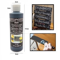 CHALKBOARD PAINT BLACK 8OZ  MULTI-SURFACE 2651