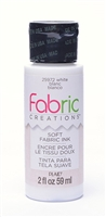 FABRIC PAINT CREATIONS WHITE 2 OZ. 25972