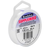 SUPPLEMAX .25MM CLEAR NYLON STRING 164FT BEJN0-25W-F