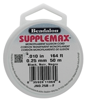 SUPPLEMAX .25MM BLACK NYLON STING 164FT BEJN0-25B-F