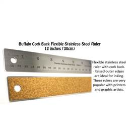 RULER STAINLESS STEEL 30cm BUFFALO 601