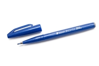 SIGN PEN W/ BRUSH TIP BLUE PLSES15C-C