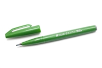 SIGN PEN W/ BRUSH TIP GREEN PLSES15C-D
