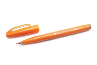 SIGN PEN W/ BRUSH TIP ORANGE PLSES15C-F