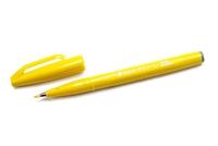 SIGN PEN W/ BRUSH TIP YELLOW PLSES15C-G