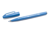 SIGN PEN W/ BRUSH TIP SKY BLUE PLSES15C-S