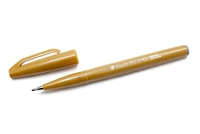 SIGN PEN W/ BRUSH TIP OCHRE PLSES15C-Y
