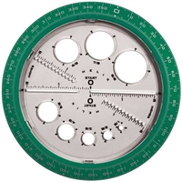 PROTRACTOR ANGLES AND CIRCLES HX36002