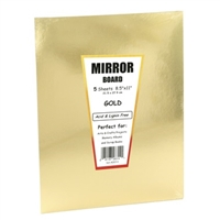 MIRROR BOARD 8.5X11 GOLD 5 PACK HY28314
