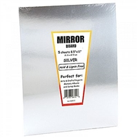 MIRROR BOARD 8.5X11 SILVER 5 PACK HY28315