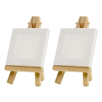 MINI CANVAS & EASEL SET 3X3 AA10117