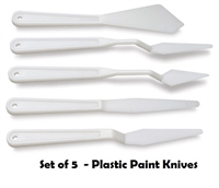 PAINT KNIFE SET OF 5 PLASTIC AA16501