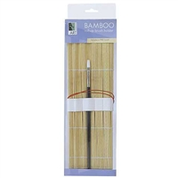 BRUSH HOLDER EMPTY BAMBOO ROLLUP AA18201
