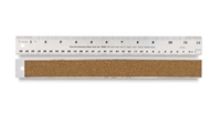 RULER METAL STEEL FLEX CORK 18 INCHES AA27073