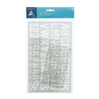LETTERING GUIDE PACK 4PC AA27190
