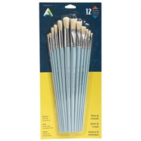 BRUSH SET BRISTLE LH 12 ASSORTED SIZES AA40435