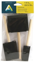 SPONGE BRUSH 3 SET 1,2,3 INCHES AA40812