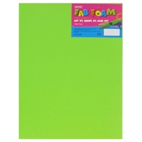FOAMIES LT GREEN 2MM 9X12 SHEET DZ1144-16