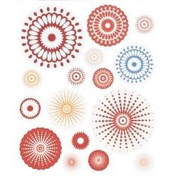 STICKERS RADIAL 16 PC RED BHS10105