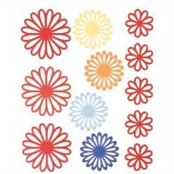 STICKERS DAISY 12PC RED BHS10108