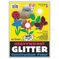 CONSTRUCTION GLITTER PAPER PAD 9X12 148105