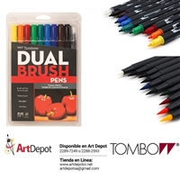MARKER SET TOMBOW DUAL BRUSH 10/PRIMARY TB56167