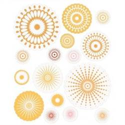 STICKERS RADIAL 16 PC YELLOW BHS10205