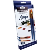 ACRYLIC SET ROYAL 12COL W/ BRUSHES ACR12