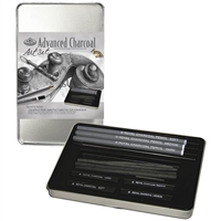CHARCOAL DRAWING TIN SM RSET-ART2503