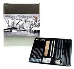 GRAPHITE SKETCHING TIN MED. RSET-ART2712