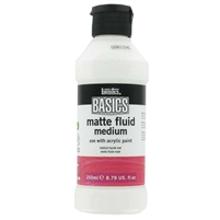 PAINT MEDIUM LIQUITEX BASICS MATTE FLUID MEDIUM 250ML LQ1041005