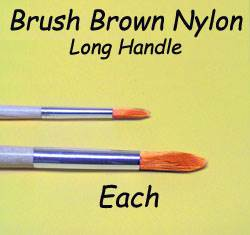 BRUSH 1808 EACH BROWN NYL ROUND LONG HANDLE 12PC VARIETY 1808-DISC