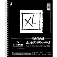 DRAWING PAD CANSON XL BLACK 7x10 40 SH WIRE CN400100868