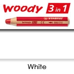 WATER SOLUBLE WAX PENCIL STABILO WOODY  WHITE SW880-100