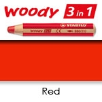 WATER SOLUBLE WAX PENCIL STABILO WOODY RED SW880-310