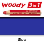 WATER SOLUBLE WAX PENCIL STABILO WOODY BLUE SW880-405