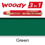 WATER SOLUBLE WAX PENCIL STABILO WOODY GREEN SW880-533