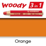 WATER SOLUBLE WAX PENCIL STABILO WOODY ORANGE SW880-220
