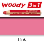 WATER SOLUBLE WAX PENCIL STABILO WOODY PINK SW880-334