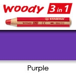 WATER SOLUBLE WAX PENCIL STABILO WOODY PURPLE SW880-385