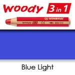 WATER SOLUBLE WAX PENCIL STABILO WOODY BLUE LIGHT SW880-425